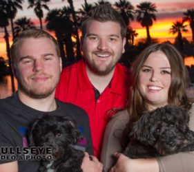 dogs, people, sunset, phoenix pet photography